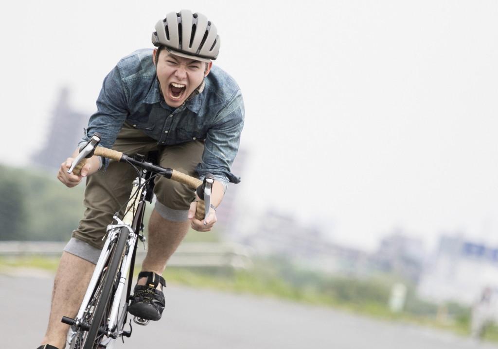 自転車男子 写真 ポートレート